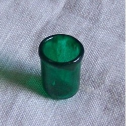 Bicchiere vetro verde 038