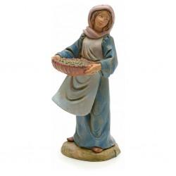Donna con cesta olive