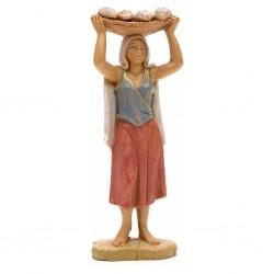 Donna con cesta pane in testa