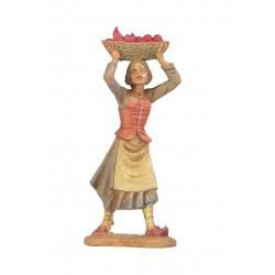 Donna con cesta frutta in testa