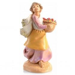 Donna con cesta frutta