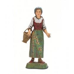 Donna con cesto al braccio