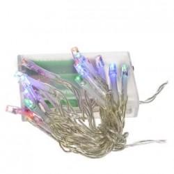 Collana 10 lampadine colorate a batterie 018