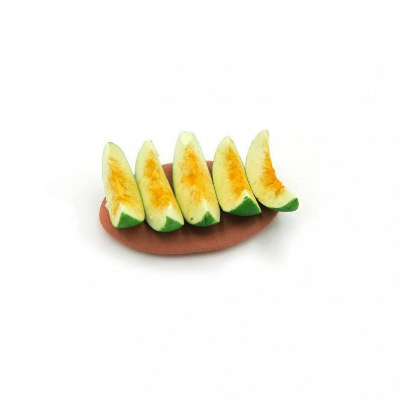 Vassoio con fette di melone 092