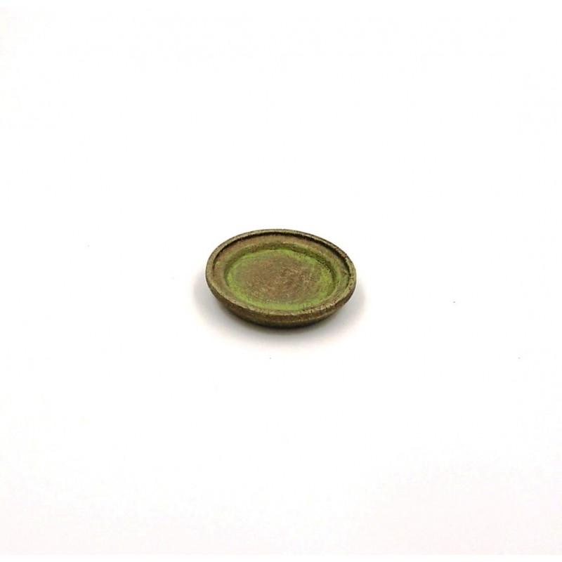 Piatto piano color bronzo 095