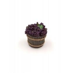 Mastello con uva da tavola nera 018