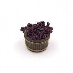 Tinozza con uva da tavola nera 025